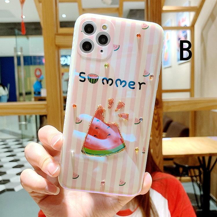 送料無料!iPhone 11 Pro Maxケース iPhone11 pro maxカバー アイフォン11 プロ マックス ケース Apple 6.5インチ スマホケース 保護カバー tpuソルトケース 背面カバー ストーン 耐衝撃 キラキラ シリコン スイカ&アイスクリーム かわいい