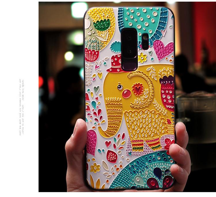 Samsung Galaxy S9+ ケース Galaxy S9 Plus ケース ギャラクシー S9 プラスケース SC-03K/SCV39 docomo au サンスム スマホケース 保護カバー ソフト背面カバー 浮き彫り