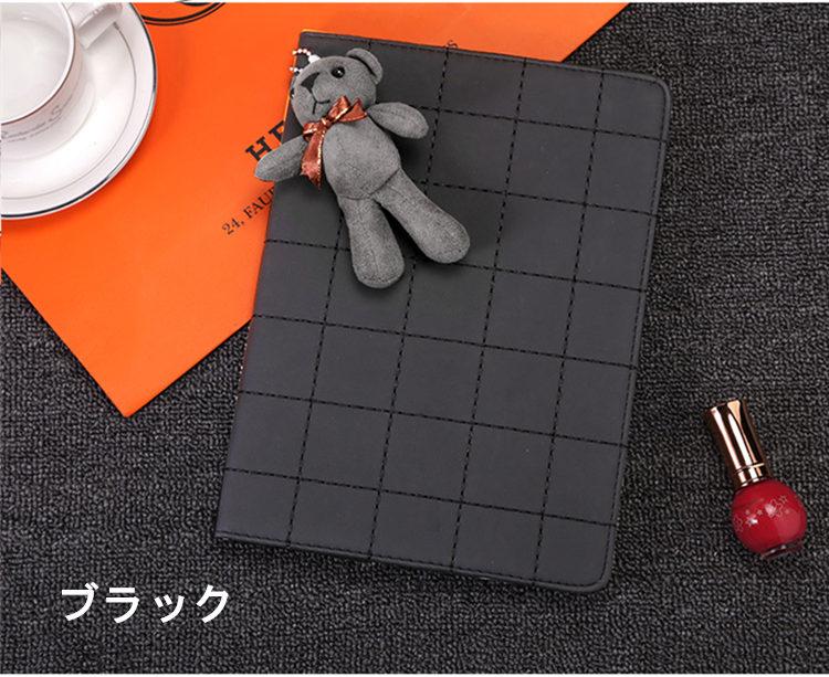 送料無料!ipad air ケース airカバー  アイパットエアーケース ipad カバー タブレットPC 手帳型 オートスリープ機能付き クマ付き 段階調整可能 超可愛い