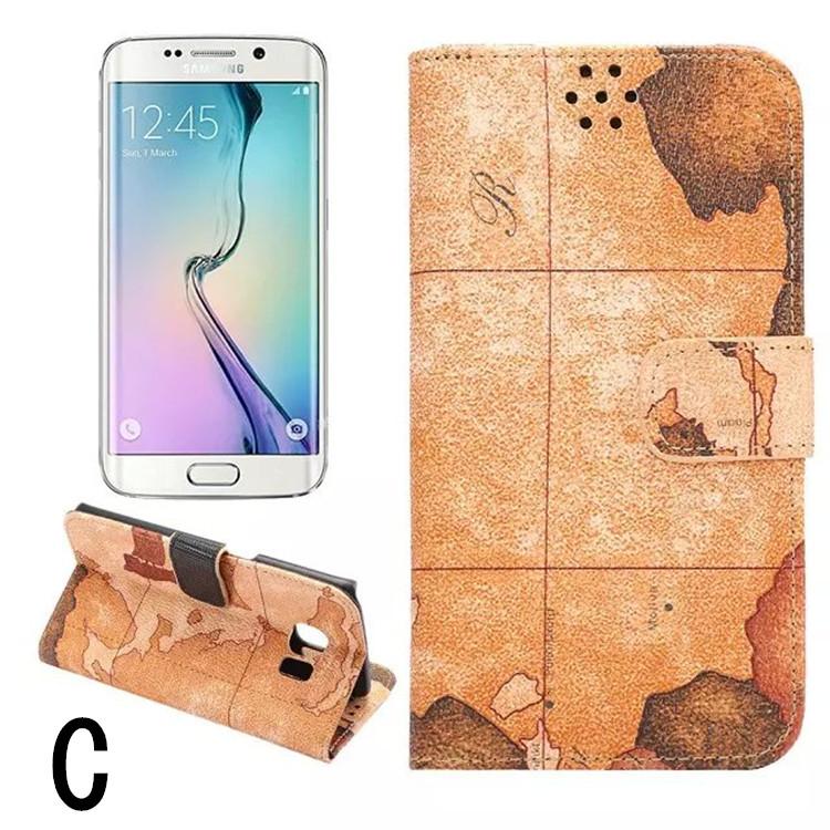 送料無料!Samsung Galaxy S6 edgeケース ギャラクシーS6 エッジ ケース SC-04G/SCV31 docomo au サンスム 保護カバー 手帳型 横開き カード収納あり スタンドタイプ 地図