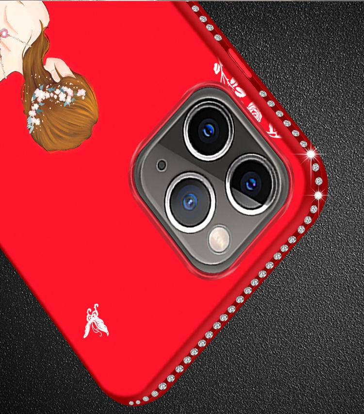 送料無料!iPhone 11 Pro Maxケース iPhone11 pro maxカバー アイフォン11 プロ マックス ケース Apple 6.5インチ スマホケース 保護カバー 背面カバー きらきら ストーン リリング付き ストラップ 女の子 おしゃれ