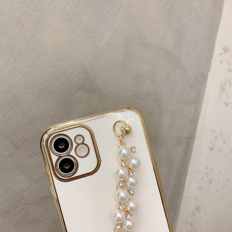 送料無料!iPhone 11 Pro Maxケース iPhone11 pro maxカバー アイフォン11 プロ マックス ケース Apple 6.5インチ スマホケース 保護カバー 背面カバー パール ブレスレット メッキ ソフトケース おしゃれ きれい