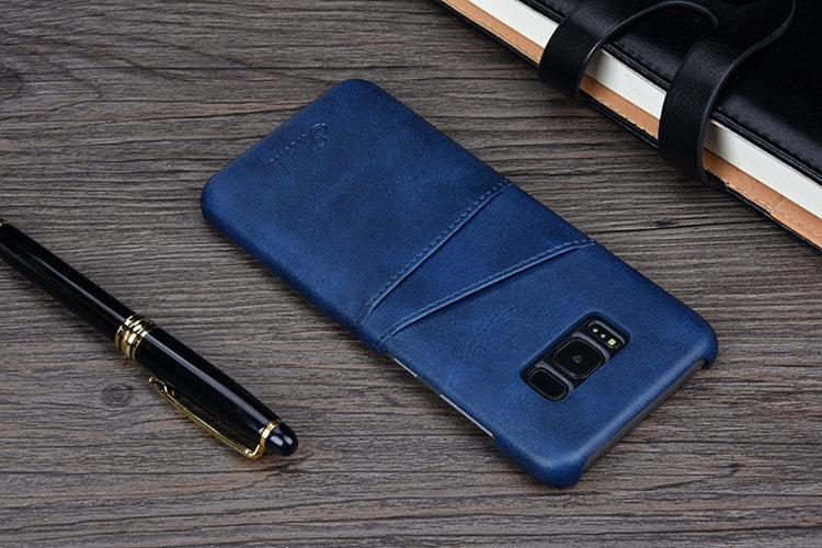 送料無料!Samsung Galaxy S8 ケース ギャラクシー S8 ケース SC-02J/SCV36 docomo au サンスム スマホケース 背面カバー カード収納 シンプル 単色