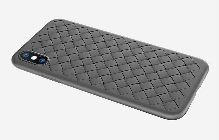 iPhone �S ケース iPhone X ケース アイフォンX カバー Apple 5.8インチ スマホケース 背面カバー ソフトケース 編み柄