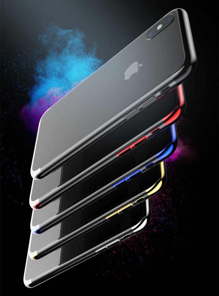 iPhone �S ケース iPhone X ケース アイフォンX カバー Apple 5.8インチ スマホケース 背面カバー 保護カバー シリカゲルケース 透明アクリル 極薄