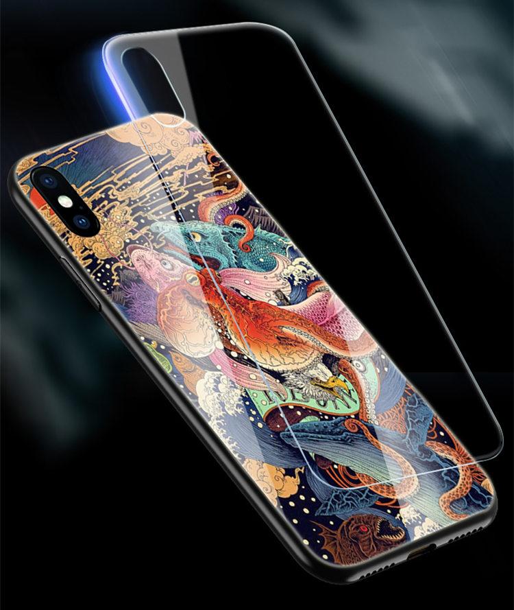 送料無料!Samsung Galaxy S10+ ケース ギャラクシー s10 プラスケース au SCV42 docomo SC-04L  スマホケース TPU&ガラスケース 背面カバー かわいい 龍 おしゃれ