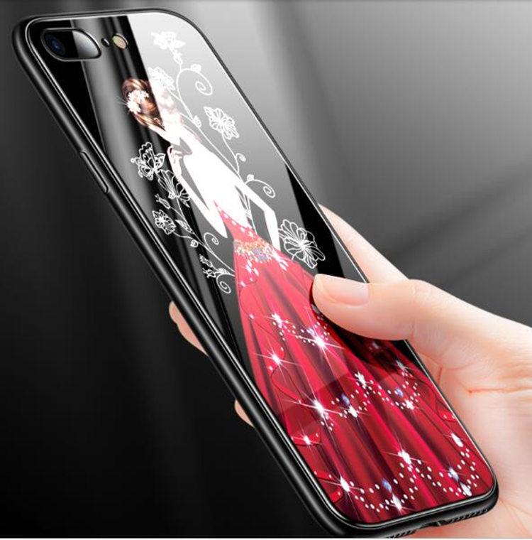 送料無料!ガラスフィルム付き!送料無料!iphone8 ケース アイフォン8 カバー iphone7 ケース iphone7 カバー アイフォン7 ケース Apple 4.7インチ 背面カバー ガラスケース 女の子 おしゃれ