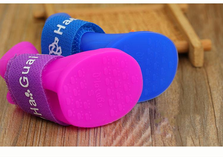 送料無料 犬の靴 レインシューズ マジックテープ 滑り止め くつ保護 肉球保護 春 夏 スマート おしゃれペット 犬靴