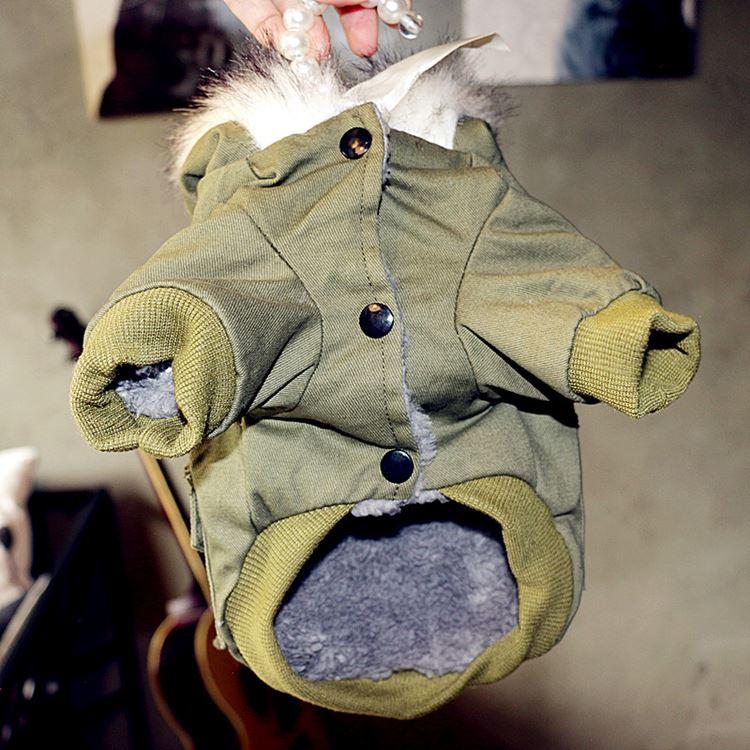 送料無料!犬の服 ダウンジャケット 前開き 両足 パーカー コート 暖かい 裏起毛 ペット用品 洋服 DOG服 犬服 犬用防寒着 ペット服 おしゃれ