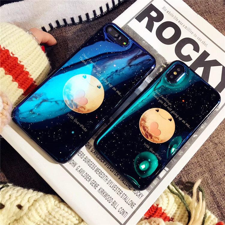 送料無料!iphone8 ケース アイフォン8 カバー iphone7 ケース iphone7 カバー アイフォン7 ケース Apple 4.7インチ背面カバー  シリカゲルケース 月