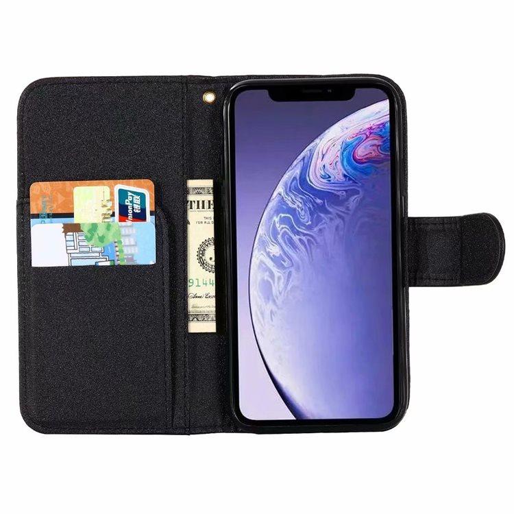 送料無料!iPhone 11 Pro Maxケース iPhone11 pro maxカバー アイフォン11 プロ マックス ケース Apple 6.5インチ スマホケース 保護カバー 手帳型 カード収納 ストラップ付き バラ