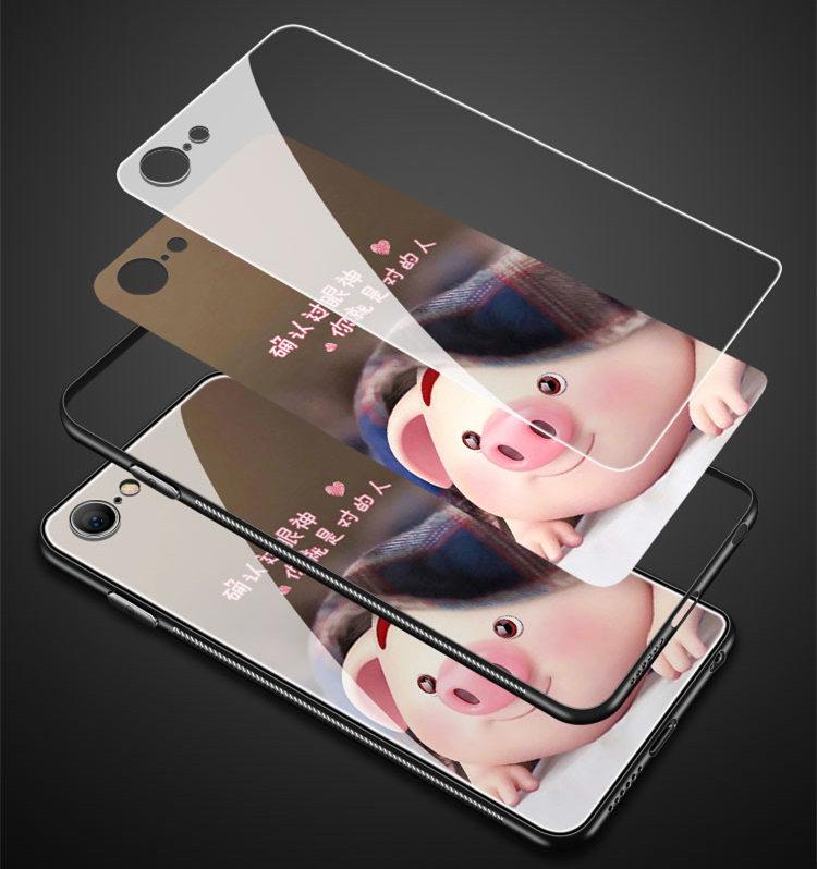 送料無料!iPhone 11 ケース iPhone11 カバー アイフォン11 ケース Apple 6.1インチ スマホケース 保護カバー 背面カバー tpu+強化ガラス バンパー ぶた pig かわいい