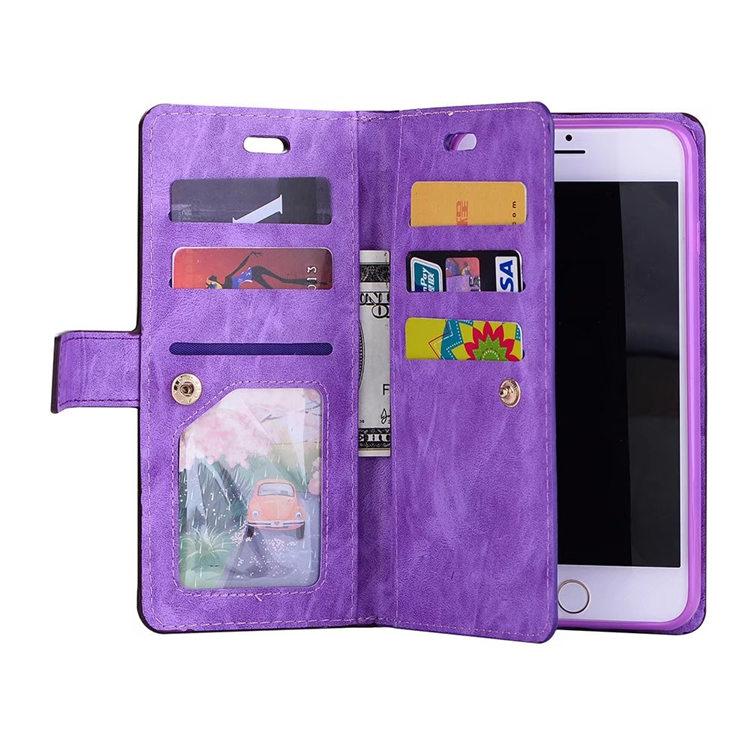 送料無料!iphone8 plus ケース iphone7 plus ケース アイフォン8 プラス ケース アイフォン7 プラス カバー Apple 5.5インチ 保護カバー 手帳型 財布 多数カード収納 ストラップ付き