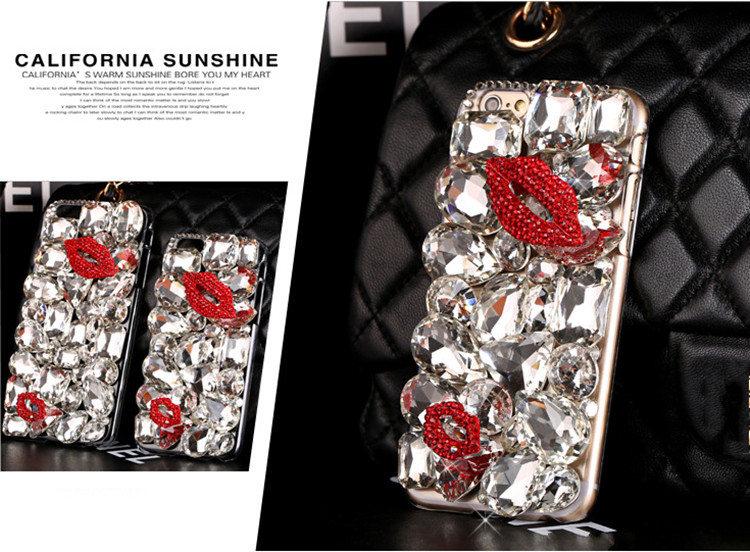 送料無料 iPhoneSE2 ケース iPhone SE 第2世代 iPhoneSE2020 ケース アイフォンカバー スマホケース デコケース キラキラ 大きいストーン 情熱な唇 豪華 レディース アクセサリー ゴージャス おしゃれ