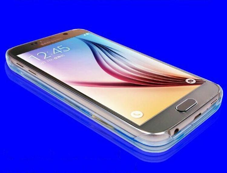 送料無料!Samsung Galaxy S6 edgeケース ギャラクシーS6 エッジ ケース SC-04G/SCV31 docomo au サンスム スマホケース 保護カバー 液体 流れるアヒル