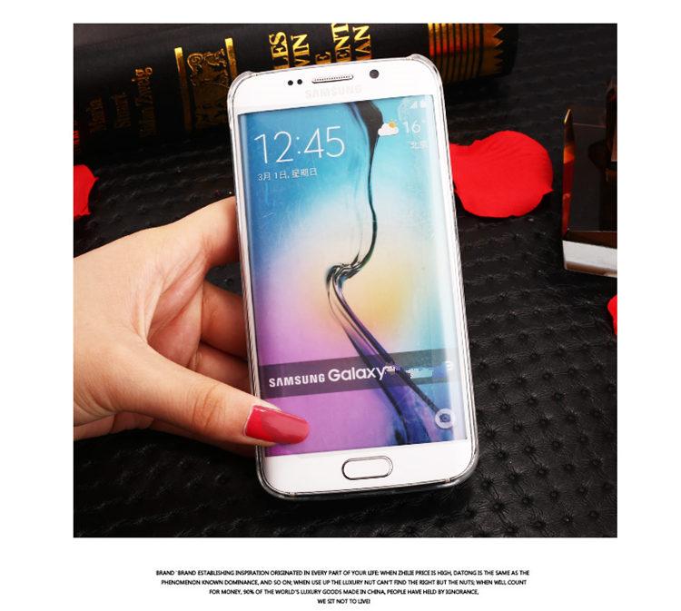 送料無料!Samsung Galaxy S6 edgeケース ギャラクシーS6 エッジ ケース SC-04G/SCV31 docomo au サンスム スマホケース カバー キラキラ デコ ストーン 流れる星 液体