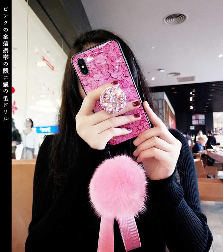 iphone8 ケース アイフォン8 カバー iphone7 カバー Apple 4.7インチ シリコンケース ストーン キラキラ リングスタン付き ストラップ付き ファー おしゃれ