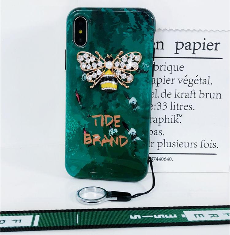 iphone8 plus ケース iphone7 plus ケース アイフォン8 プラス ケース  背面カバー 保護カバー かわいい 3D立体 ちょう チェーン付き