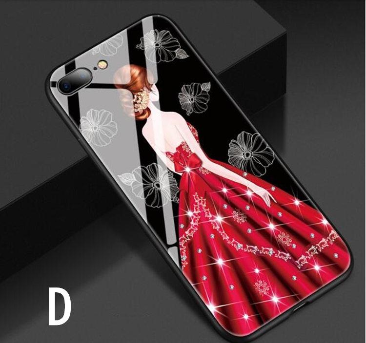 送料無料!ガラスフィルム付き!iphone8 plus ケース iphone7 plus ケース アイフォン8 プラス ケース アイフォン7 プラス カバー Apple 5.5インチ 背面カバー ガラスケース 女の子 おしゃれ