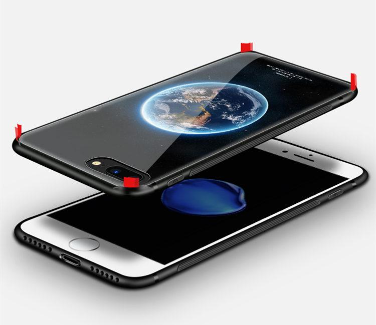 送料無料!ガラスフィルム付き!iphone8 plus ケース iphone7 plus ケース アイフォン8 プラス ケース アイフォン7 プラス カバー Apple 5.5インチ 背面カバー TPU ガラスケース 個性