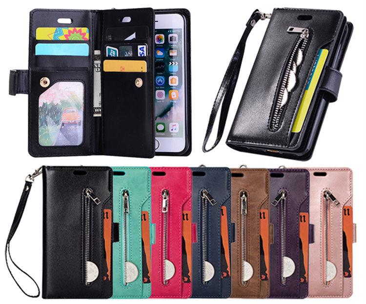 送料無料 iPhoneSE2 ケース iPhone SE 第2世代 iPhoneSE2020 ケース アイフォンカバー スマホケース 手帳型 財布 多数カード収納 ストラップ付き