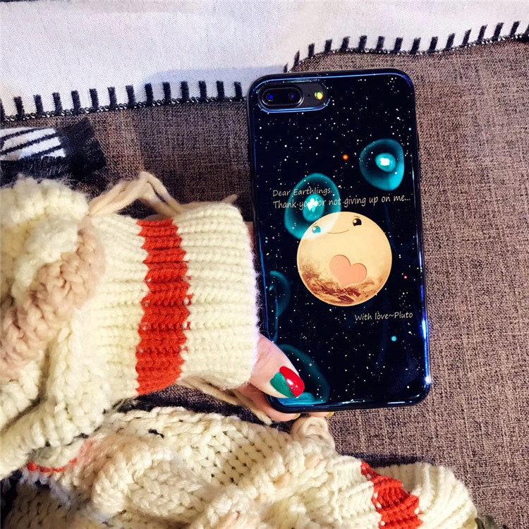 送料無料!iphone8 plus ケース iphone7 plus ケース アイフォン8 プラス ケース アイフォン7 プラス カバー Apple 5.5インチ 背面カバー  シリカゲルケース 月