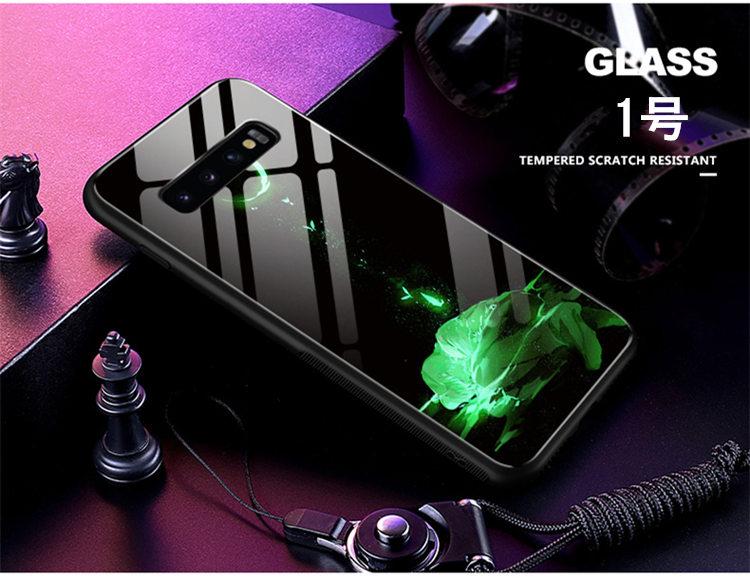 送料無料 Samsung Galaxy S10 ケース ギャラクシー s10 ケース サンスム 6.1インチ SCV41 SC-03L docomo au スマホケース TPU&ガラスケース 背面カバー ストラップ付き