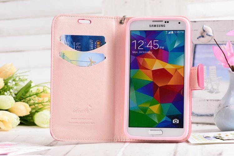 送料無料!Samsung Galaxy S7 edgeケース ギャラクシー S7 エッジ ケース SC-02H/SCV33 docomo au サンスム スマホケース カバー 手帳型 スタンドタイプ カード収納 ストッラプ付き かわいい リボン