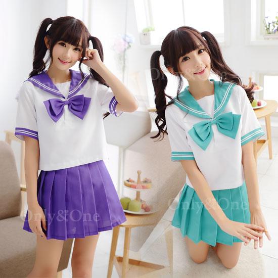セーラー服 コスプレ カラー 制服 JK 女子高生 カラバリ 半袖 制服コスチューム オリジナルブランド 全13色