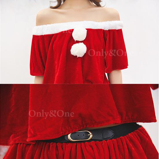 サンタ コスプレ ベアトップ Xmas サンタコ スチューム 衣装