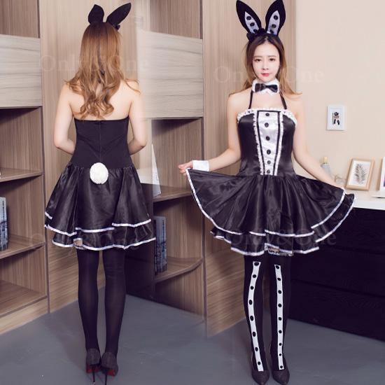 バニーガールコスプレ バニーコスチューム衣装 バニードレス SEXY ワンピース