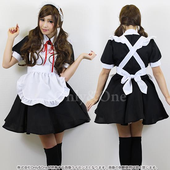 メイド コスプレ メイド服 コスチューム 定番 ブラック エプロン オリジナルブランド