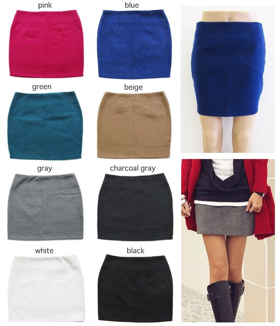 スカート シンプル タイトミニスカート 全8色 3サイズ