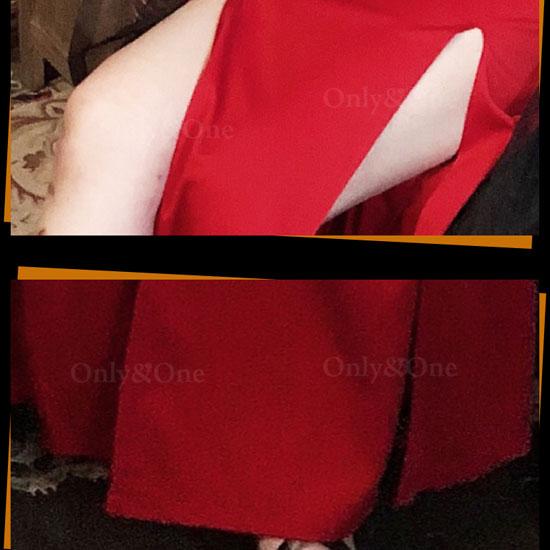 悪魔コスプレ デビルコスプレ ハロウィン ドレス セクシー小悪魔ドレス スリット