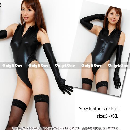 レオタードコスプレ コスチューム SM系SEXYレザー5サイズ