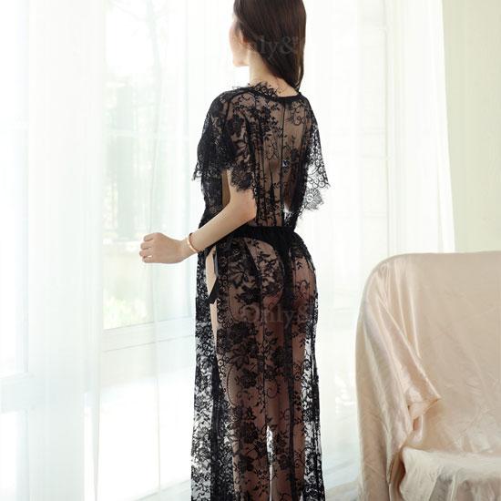 セクシーランジェリー ベビードール ロング ドレス