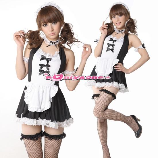 メイド コスプレ メイド服 セクシー 衣装 コスチューム 小さいリボンがとってもかわいい