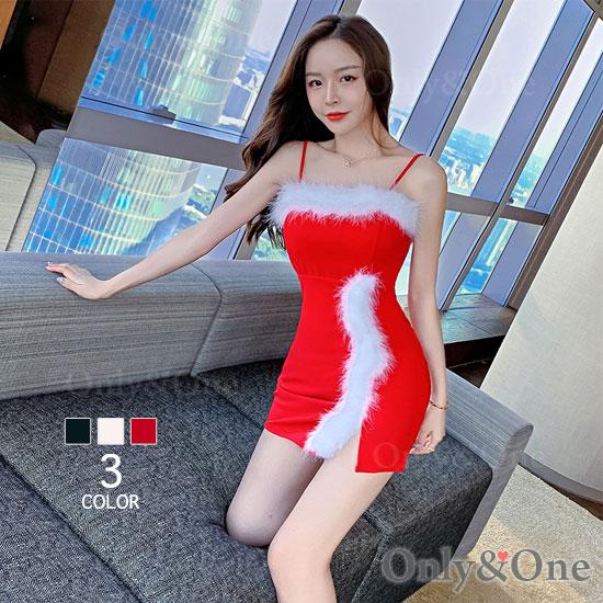 サンタ ボディコン ワンピース ベアトップ ドレス サンタ コスプレ コスチューム サンタ衣装 3カラー