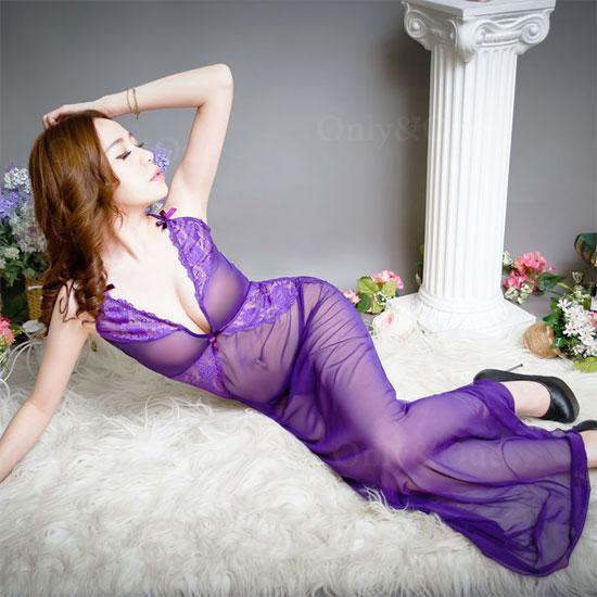 セクシーランジェリー ベビードール ロングドレス