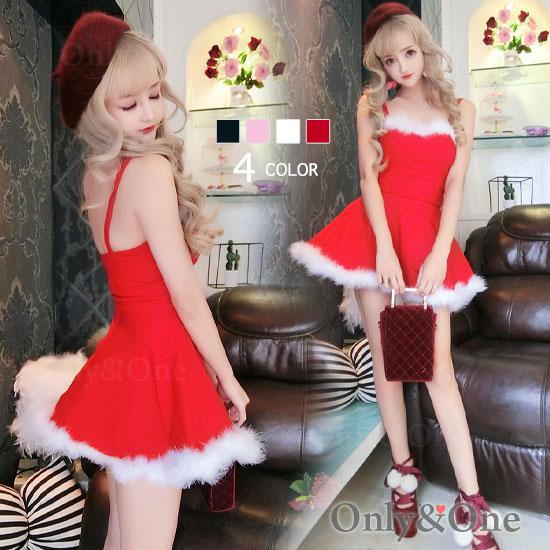 サンタ ボディコン ワンピース セパレート サンタ コスプレ コスチューム サンタ衣装 4カラー