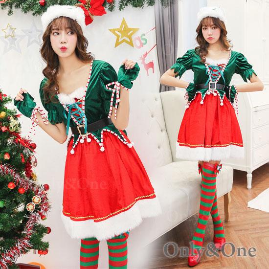 サンタ コスプレ かわいいサンタ ワンピ Xmas サンタコスチューム 衣装
