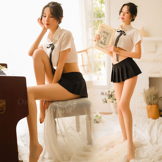 セーラー服 セクシーコスプレ 清純派なのにエロ ミニ丈トップ ミニスカート コスチューム