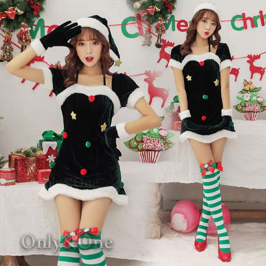 サンタコスプレ以外の可愛いコスプレ衣装2クリスマスツリー