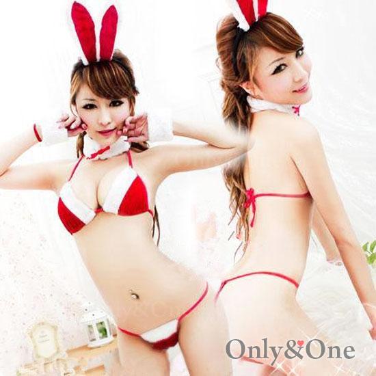 バニーガールセクシーコスプレ SEXYアニマルサンタ風コスチューム衣装