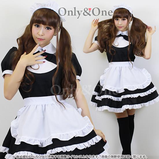 メイド コスプレ メイド服 衣装 コスチューム 定番 ブラック エプロン オリジナルブランド