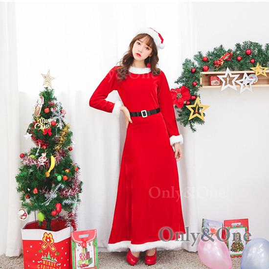 サンタ コスプレ ロングドレス Xmas サンタコ スチューム 衣装