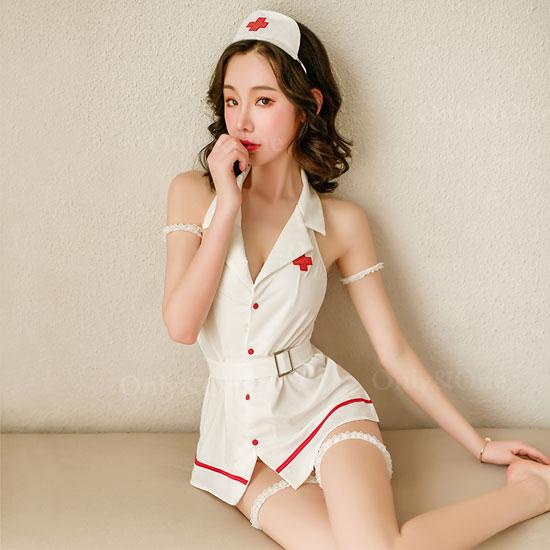 ナース服 セクシーコスプレ 白衣 エロ コスチューム ミニ丈 ワンピース 2カラー