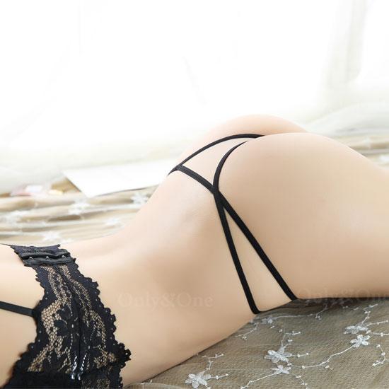 【訳あり品】セクシー下着 刺繍 サイドトリング ショーツ ベージュ