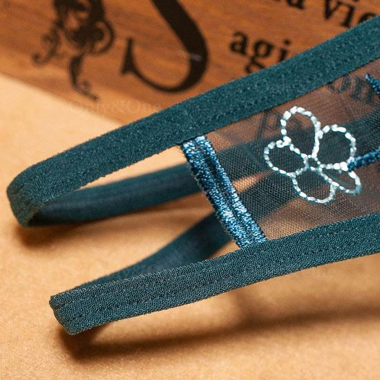 セクシー下着 オープンクロッチ 股空き サイドストリング 花刺繍 エロショーツ 刺繍 7カラー