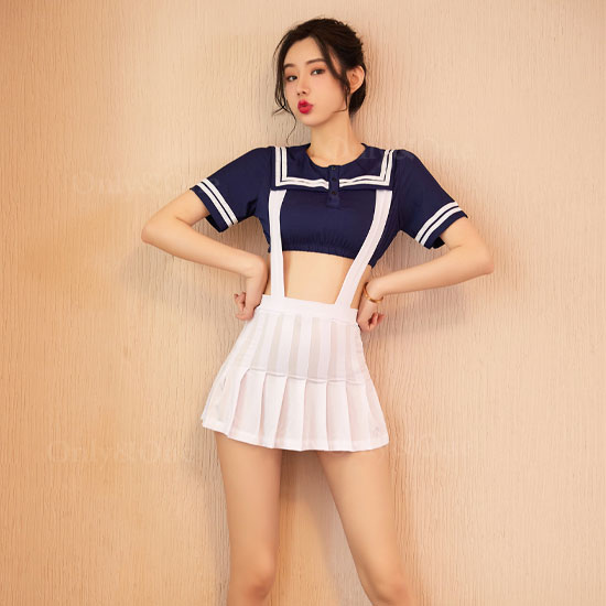 制服 ミニ セクシーコスプレ ホワイト スカート 女子高生 コスチューム